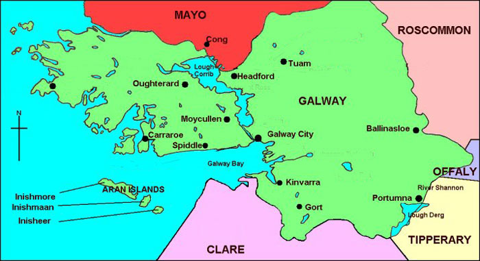Maps Galway Ireland Maps Galway City Maps County Galway Maps Co
