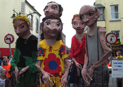 Macnas performing at Galway Arts festival
