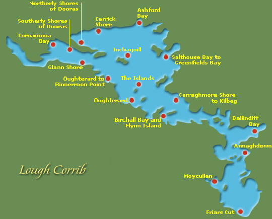 Map Of Ireland With Rivers.Lough Corrib Ireland Loch Corrib Galway Lake Corrib Lake Galway Ireland